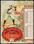 Baseball Collectibles:Others, 1904 Major League Baseball Partial Cardboard Broadside....