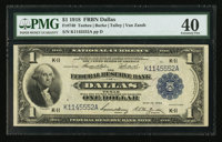 Fr. 740 $1 1918 Federal Reserve Bank Note PMG Extremely Fine 40