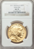 Modern Bullion Coins, 2011 $50 One-Ounce Gold Buffalo MS70 NGC. .9999 Fine. NGC Census:(0). PCGS Population (1450). Numismedia Wsl. Price for p...