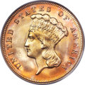 Three Dollar Gold Pieces, 1878 $3 MS66 PCGS....