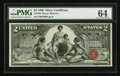 Large Size:Silver Certificates, Fr. 248 $2 1896 Silver Certificate PMG Choice Uncirculated 64.. ...