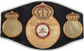 Boxing Collectibles:Autographs, Sugar Ray Leonard Signed Replica Belt....