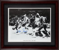 Basketball Collectibles:Photos, Walt Frazier Signed Oversized Photograph....