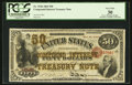 Large Size:Compound Interest Treasury Notes, Fr. 192b $50 1864 Compound Interest Treasury Note PCGS Very Fine30.. ...