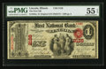 National Bank Notes:Illinois, Lincoln, IL - $1 Original Fr. 382a The First NB Ch. # 2126. ...