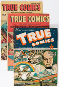 Golden Age (1938-1955):War, True Comics #1-84 Complete Run Box Lot (True, 1941-50) Condition:GD/VG....