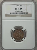 Proof Indian Cents: , 1882 1C PR66 Brown NGC. NGC Census: (40/6). PCGS Population (34/8). Mintage: 3,100. Numismedia Wsl. Price for problem free ...