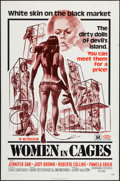 "Movie Posters:Sexploitation, Women in Cages (New World, 1971). One Sheet (27"" X 41"") &Photos (8) (8"" X 10""). Sexploitation.. ... (Total: 9 Items)"