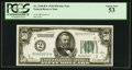 Fr. 2100-B* $50 1928 Federal Reserve Note. PCGS About New 53