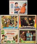 "Movie Posters:Adventure, Drums & Others Lot (Film Classics Inc., R-1948). Title LobbyCard & Lobby Cards (4) (11"" X 14""). Adventure.. ... (Total: 5Items)"