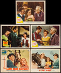 "Movie Posters:Sports, The Lady's from Kentucky & Others Lot (Paramount, 1939). Lobby Cards (5) (11"" X 14""). Sports.. ... (Total: 5 Items)"