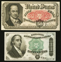 Fractional Currency:Fourth Issue, Fr. 1379 Fourth Issue 50¢ New. Fr. 1381 Fifth Issue 50¢ New.. ... (Total: 2 notes)