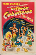 "Movie Posters:Animation, The Three Caballeros (RKO, 1945). One Sheet (27"" X 41"").Animation.. ..."