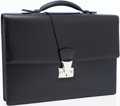 Luxury Accessories:Bags, Cartier Black Leather Pasha Briefcase. ...