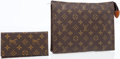 Luxury Accessories:Travel/Trunks, Louis Vuitton Set of Two; Classic Monogram Canvas Toiletry PouchBag & Simple Checkbook Cover. ...