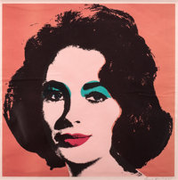 ANDY WARHOL (American, 1928-1987) Liz, 1967 Offset lithograph in colors 22-1/2 x 22-1/2 inches (5