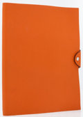 Luxury Accessories:Accessories, Hermes Orange H Togo Leather Ulysse GM Notebook Cover. ...