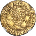 Great Britain: Edward III (1327-77) gold Quarter Noble ND