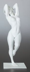 Fine Art - Sculpture, American, BILL MACK (American, b. 1949). Standing Female NudeSculpture, circa 1995. Bonded sand. 22 inches (55.9 cm) high.Inscri...