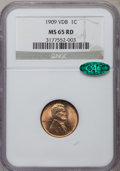 Lincoln Cents: , 1909 VDB 1C MS65 Red NGC. CAC. NGC Census: (3246/1561). PCGSPopulation (5122/2312). Mintage: 27,995,000. Numismedia Wsl. P...