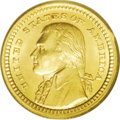 Commemorative Gold: , 1903 G$1 Louisiana Purchase/Jefferson MS66 PCGS. Nearly flawlessgreen-gold surfaces offer satiny brilliance and razor shar...