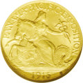 Commemorative Gold: , 1915-S $2 1/2 Panama-Pacific Quarter Eagle MS64 NGC. Rich, creamyluster and attractive medium golden color. Well struck an...
