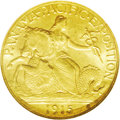 Commemorative Gold: , 1915-S $2 1/2 Panama-Pacific Quarter Eagle MS65 NGC. An expertlypreserved example of this classic gold commemorative issue...