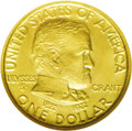 Commemorative Gold: , 1922 G$1 Grant No Star MS67 NGC. Glints of mint-green occur in theprotected areas of this predominantly sunset-orange Supe...