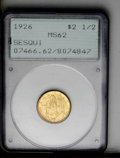 """Commemorative Gold: , 1926 $2 1/2 Sesquicentennial MS62 PCGS. A beautiful example of thefinal gold commemorative type within the pre-1933 """"class..."""