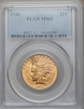 Indian Eagles: , 1926 $10 MS62 PCGS. PCGS Population (12040/14295). NGC Census:(14053/18909). Mintage: 1,014,000. Numismedia Wsl. Price for...