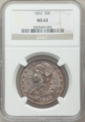 Bust Half Dollars: , 1832 50C Small Letters MS62 NGC. NGC Census: (171/198). PCGSPopulation (105/212). Mintage: 4,797,000. Numismedia Wsl. Pric...