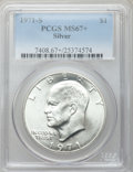 Eisenhower Dollars: , 1971-S $1 Silver MS67+ PCGS. PCGS Population (392/2). NGC Census: (81/1). Mintage: 2,600,000. Numismedia Wsl. Price for pro...