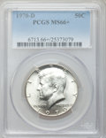 Kennedy Half Dollars: , 1970-D 50C MS66+ PCGS. PCGS Population (325/3). NGC Census:(119/5). Mintage: 2,150,000. Numismedia Wsl. Price for problem ...