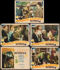 "Movie Posters:Mystery, Arsene Lupin Returns (MGM, 1938). Title Lobby Card & LobbyCards (4) (11"" X 14""). Mystery.. ... (Total: 5 Items)"
