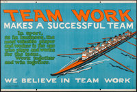 """Team Work (Mather and Company, 1923). Motivational Poster (28"""" X 41.5""""). Miscellaneous"""