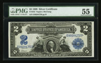 Fr. 253 $2 1899 Silver Certificate PMG About Uncirculated 55