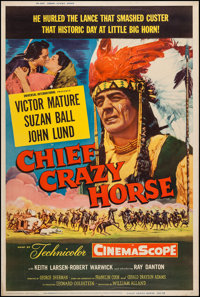 "Chief Crazy Horse (Universal International, 1955). Poster (40"" X 60"") Style Z. Western"