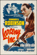 "Movie Posters:Crime, Larceny, Inc. (Warner Brothers, 1942). One Sheet (27"" X 41"").Crime.. ..."