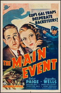 """The Main Event (Columbia, 1938). One Sheet (27"""" X 41""""). Mystery"""