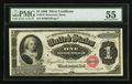 Large Size:Silver Certificates, Fr. 216 $1 1886 Silver Certificate PMG About Uncirculated 55.. ...