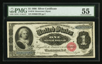 Fr. 216 $1 1886 Silver Certificate PMG About Uncirculated 55