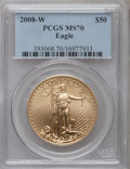 Modern Bullion Coins, 2008-W $50 One-Ounce Gold Eagle MS70 PCGS. PCGS Population (695).NGC Census: (0). Numismedia Wsl. Price for problem free ...