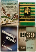 Books:Literature 1900-up, Kay Boyle. SIGNED. Group of Four Novels by Boyle. Includes fisteditions of Monday Night and Year Before Last,signe... (Total: 4 Items)