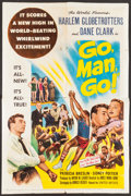 """Basketball Collectibles:Others, 1954 Harlem Globetrotters """"Go Man Go!"""" Movie Poster...."""