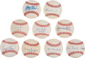 Autographs:Baseballs, Baseball Legends Single Signed Baseballs Lot Of 9....