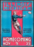 Football Collectibles:Programs, 1935 Michigan Vs. Illinois Football Program. ...