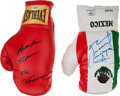 Boxing Collectibles:Autographs, Juan Marquez and Adrien Broner Signed Boxing Gloves Lot of 2....