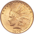 Indian Eagles, 1914-D $10 MS64 PCGS. CAC....