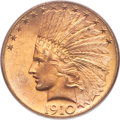 Indian Eagles, 1910-S $10 MS63 PCGS. CAC....