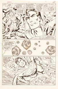 John Byrne and Dick Giordano Man of Steel #5 Page 21 Original Art (DC, 1986)